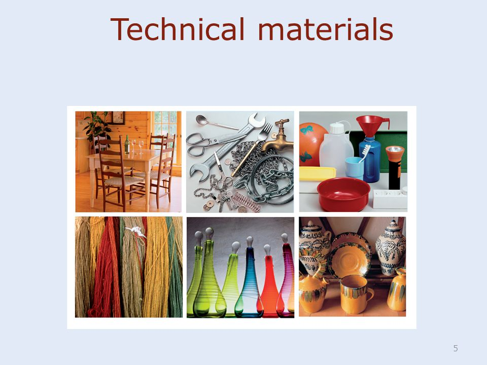 5 Technical materials