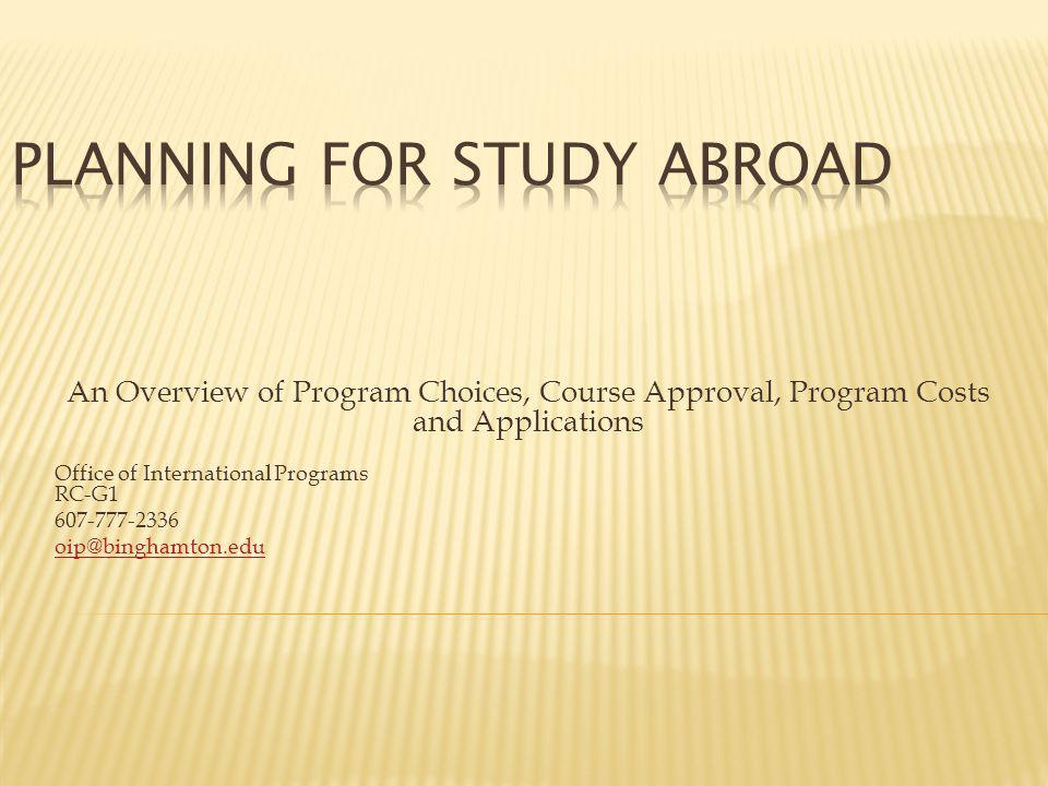 1.How do I choose a program. 2. Where I can I learn about programs.