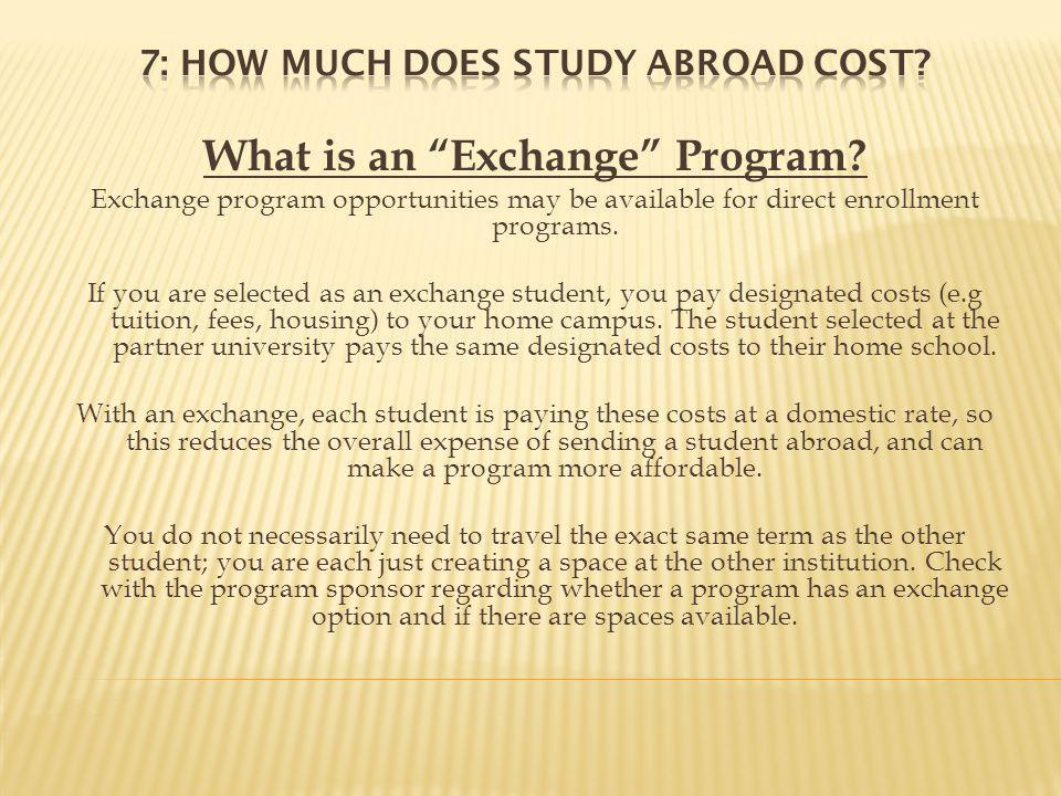 What is an Exchange Program.
