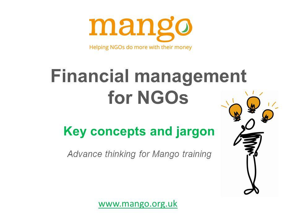 www.mango.org.uk Internal control Policies & procedures Checks & balances