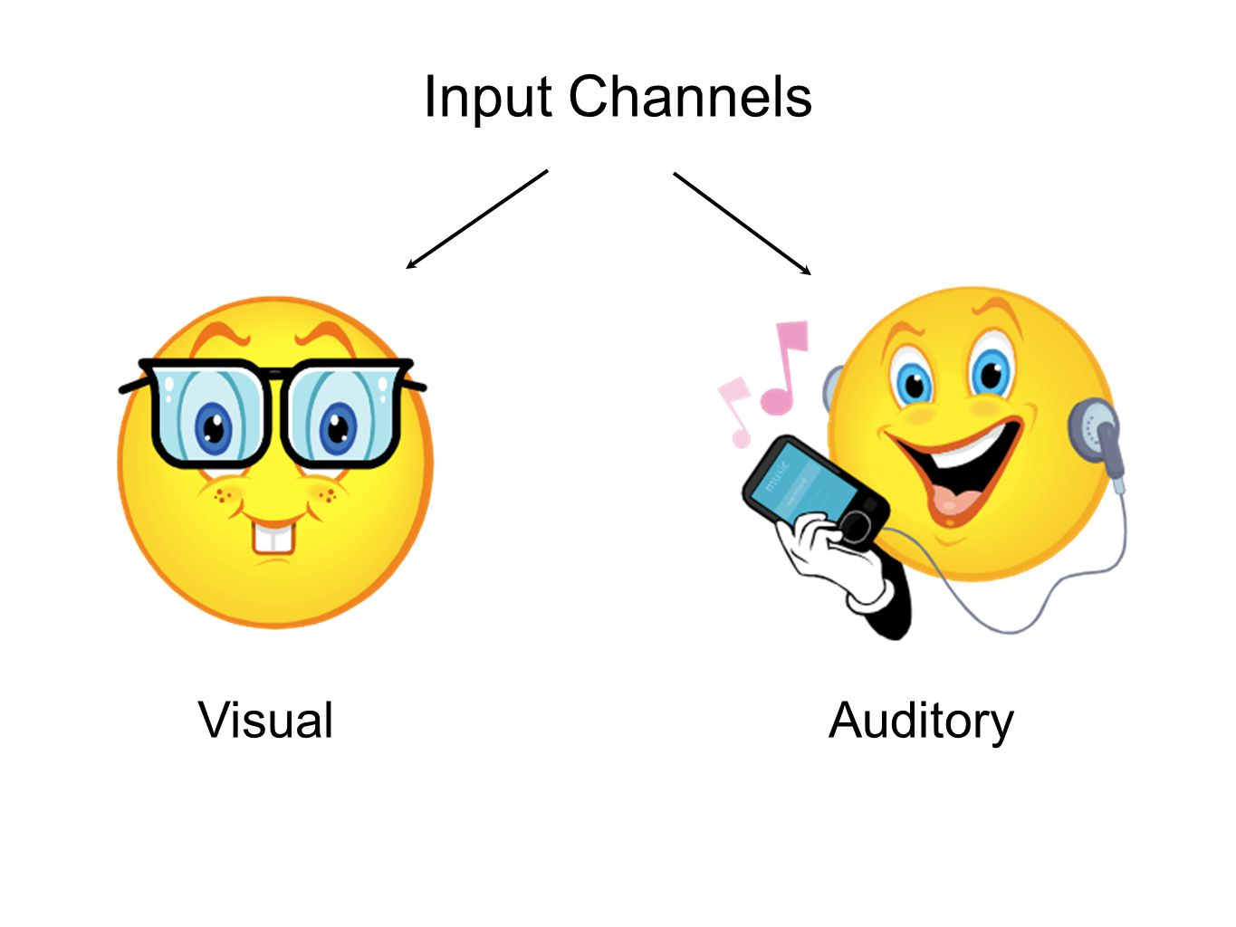 Input Channels VisualAuditory