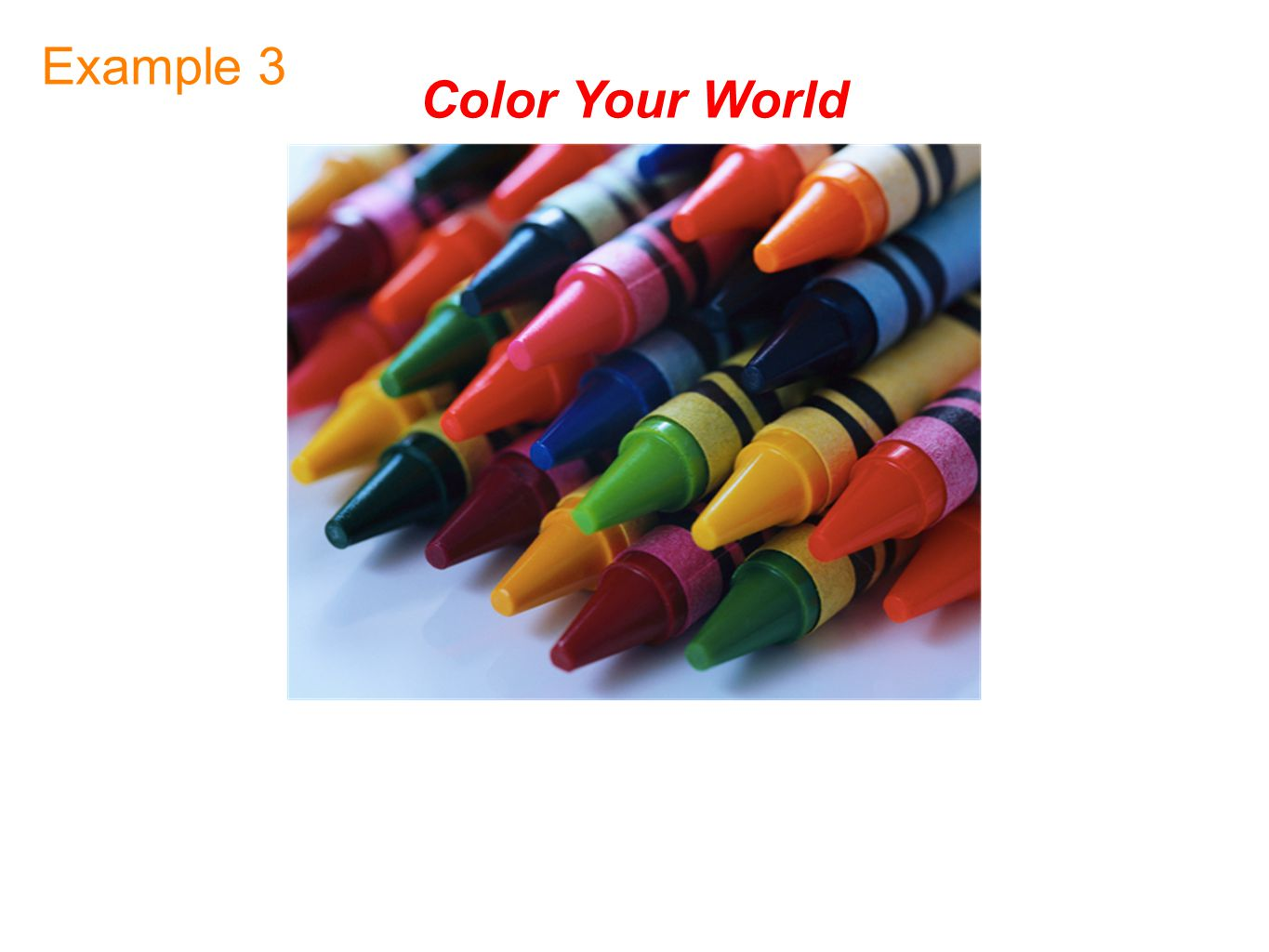 Color Your World Example 3
