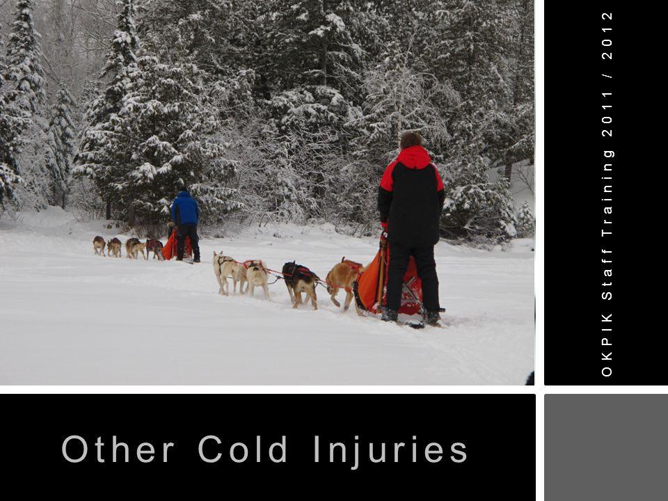 OKPIK Staff Training 2011 / 2012 Other Cold Injuries