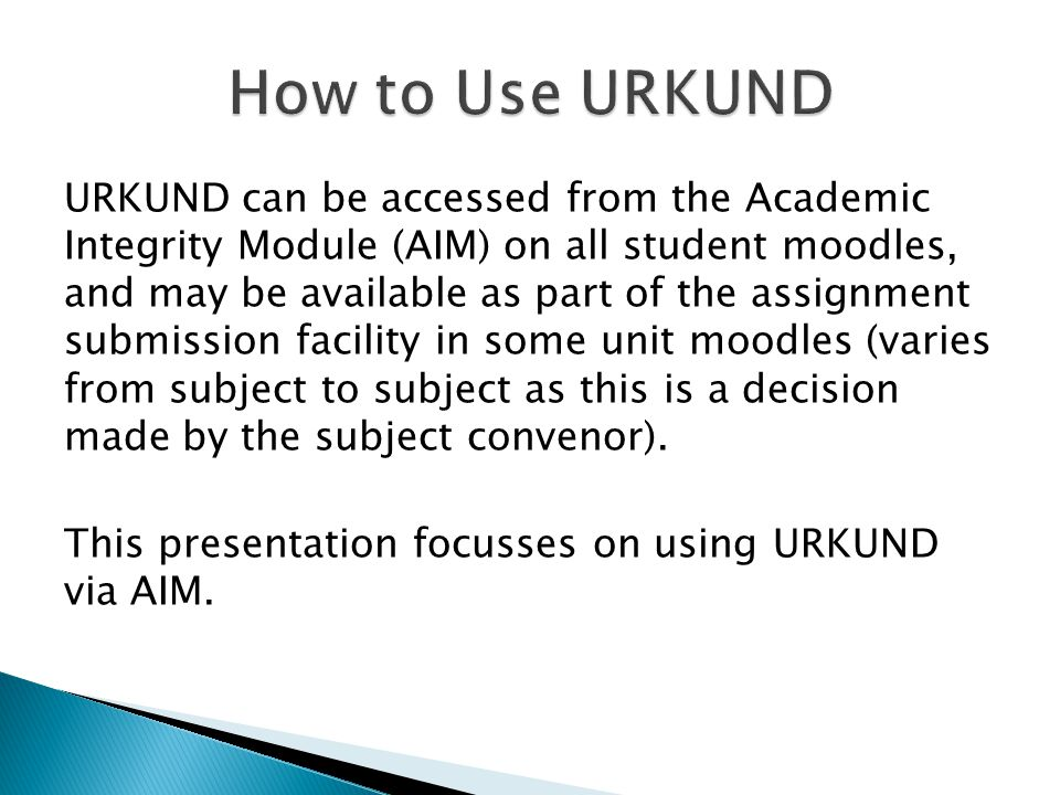  URKUND is an online text-matching tool made available to all University of Canberra students to assist with raising the quality and integrity of stu