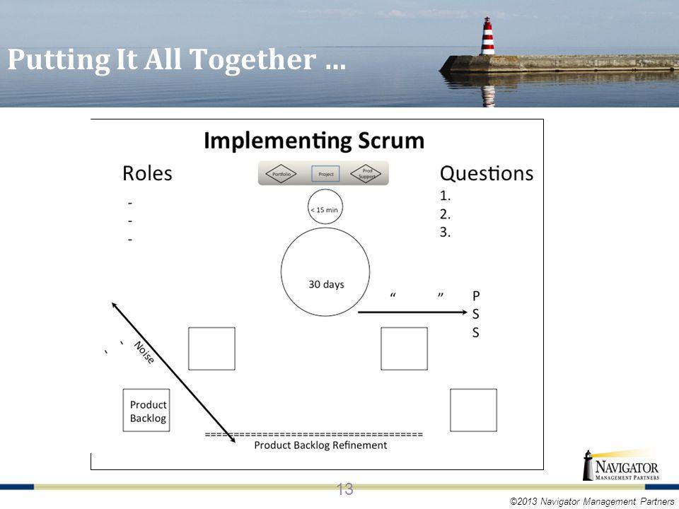 ©2013 Navigator Management Partners Putting It All Together … 13
