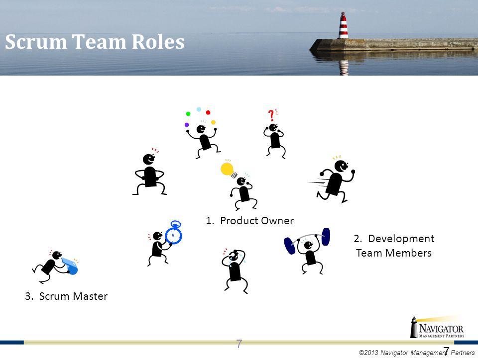 ©2013 Navigator Management Partners Scrum Team Roles 7 1.