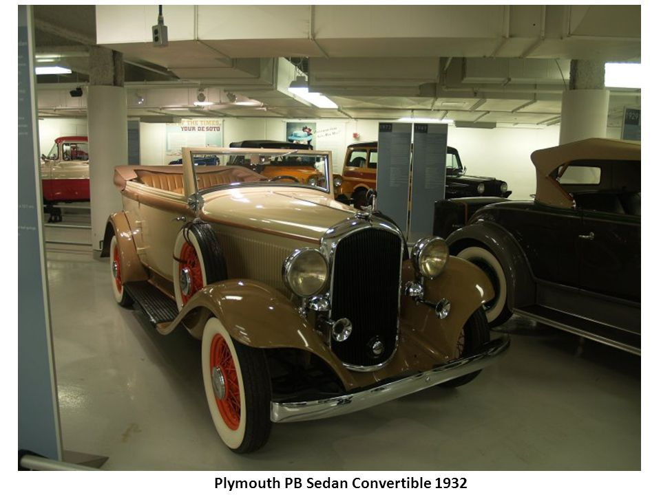 Plymouth PB Sedan Convertible 1932