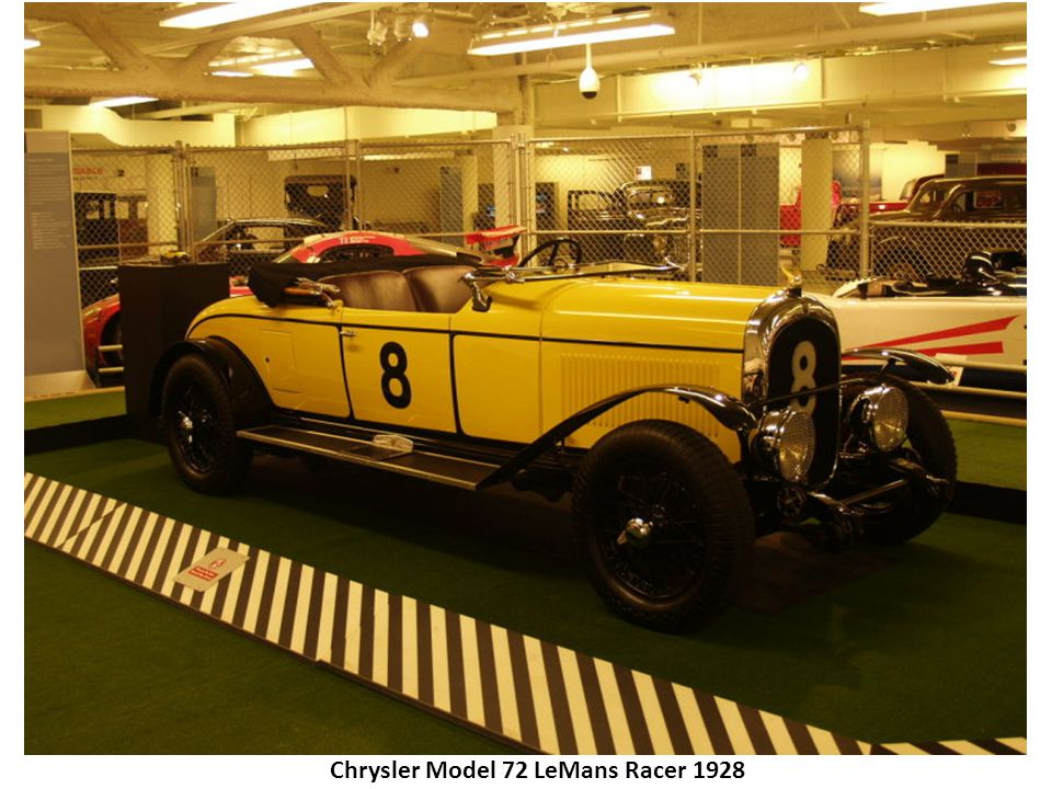 Chrysler Model 72 LeMans Racer 1928