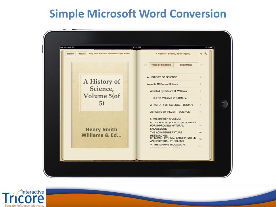 Simple Microsoft Word Conversion