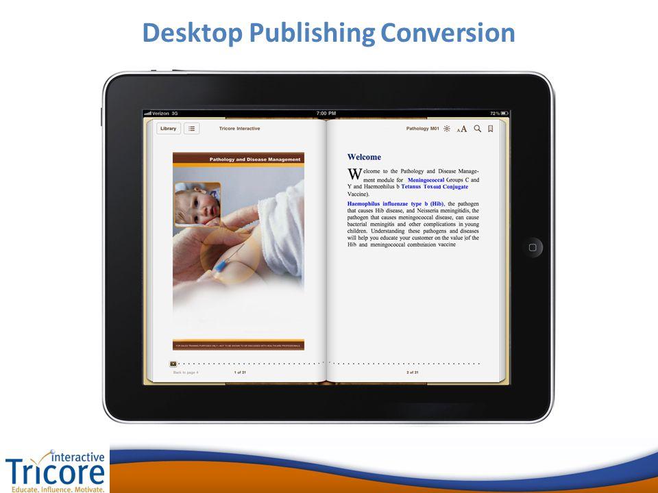 Desktop Publishing Conversion