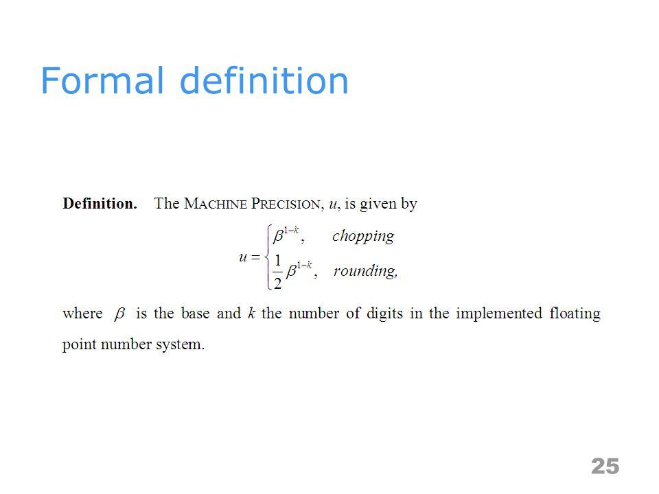 Formal definition 25