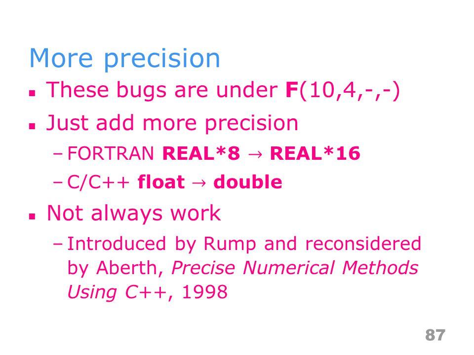 More precision 87