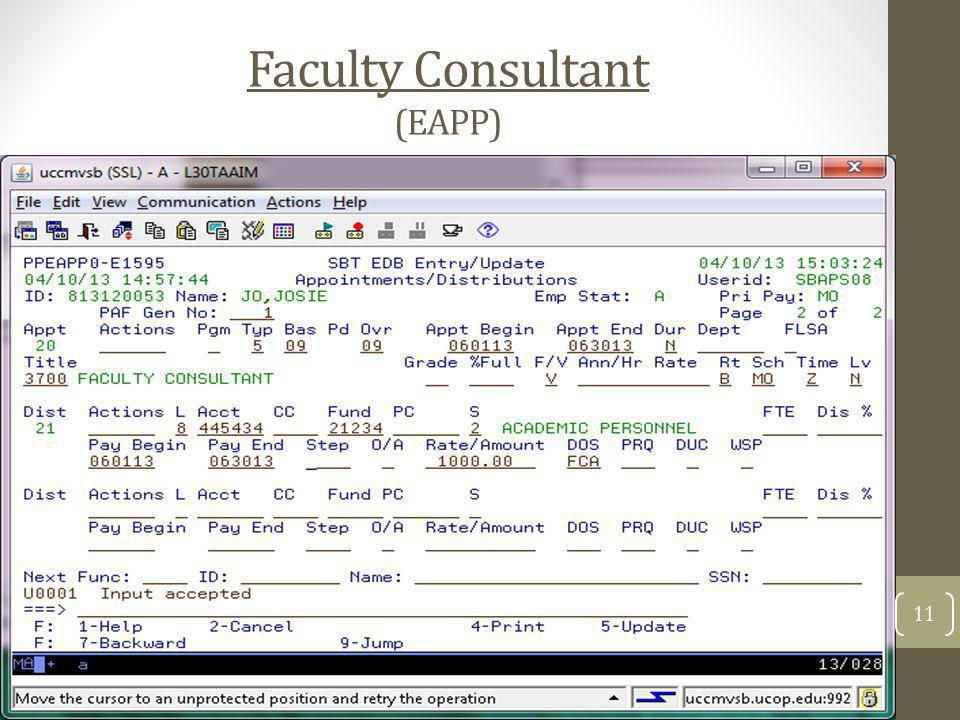 Faculty Consultant (EAPP) 11