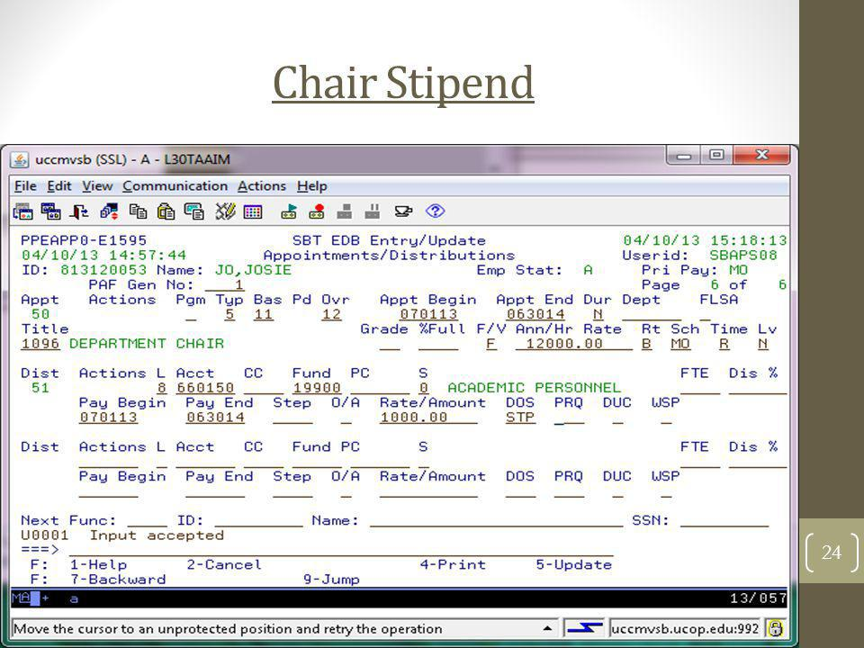 Chair Stipend 24