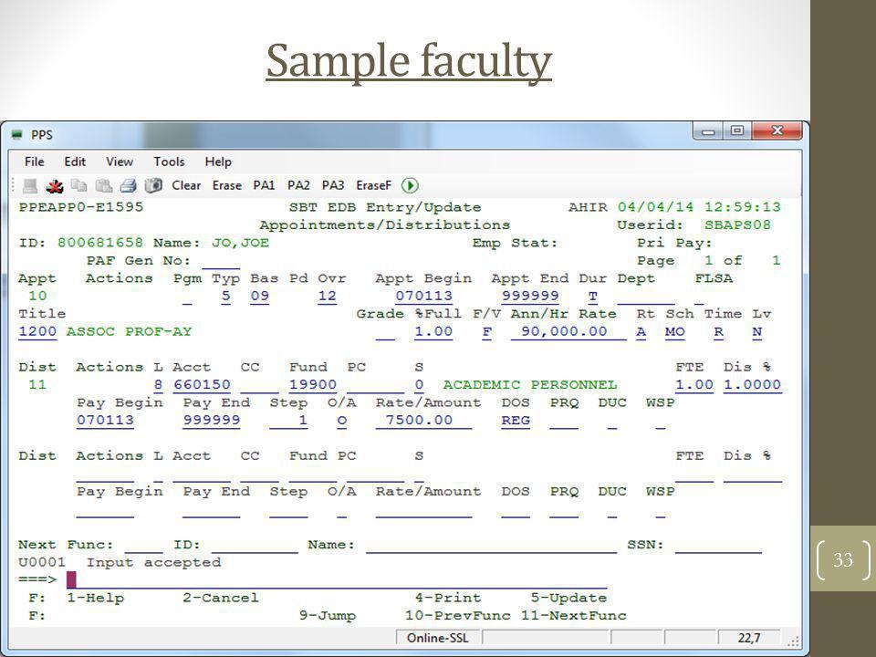 Sample faculty 33