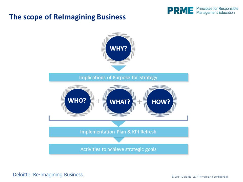 The scope of ReImagining Business Activities to achieve strategic goals Implications of Purpose for Strategy Implementation Plan & KPI Refresh WHO.
