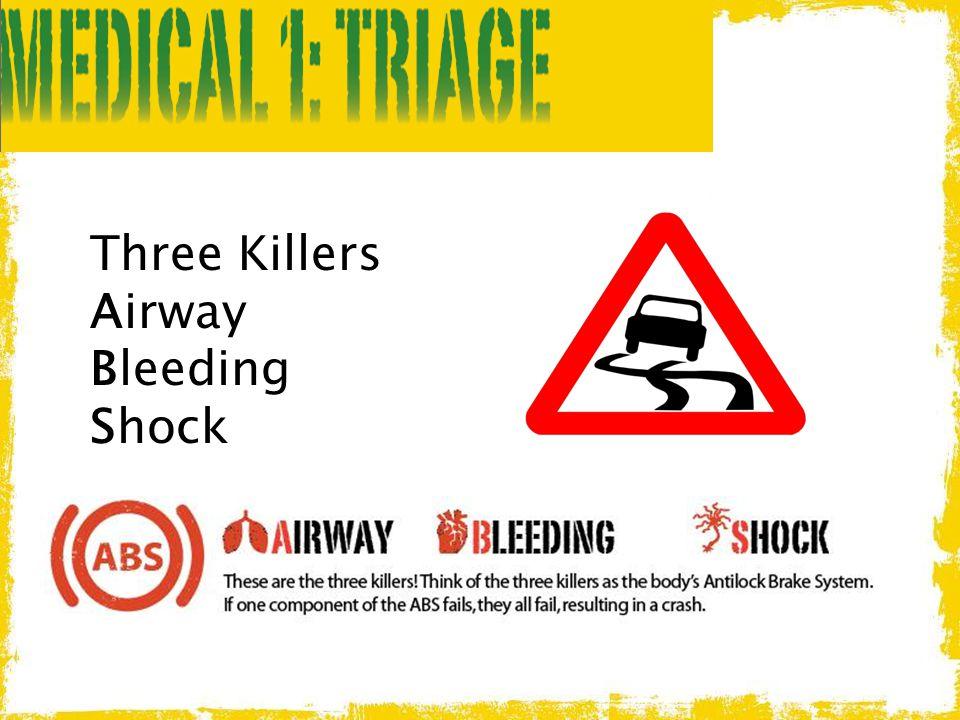 Three Killers Airway Bleeding Shock