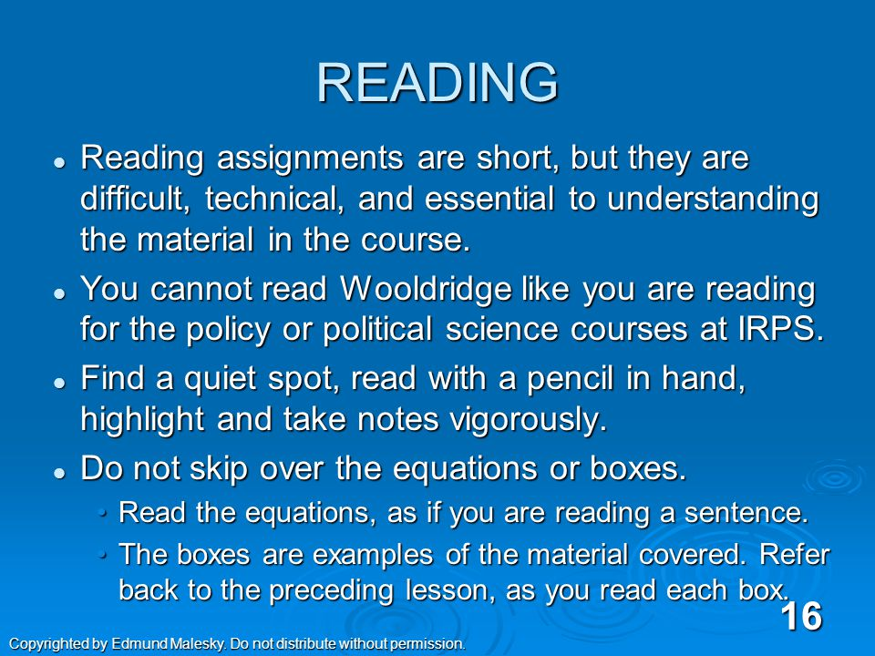 A New Way of Studying  Excelling in QM2 requires a different approach to learning than in many other classes at IRPS.