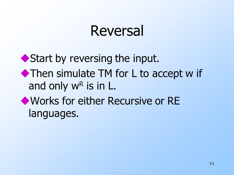 54 Reversal uStart by reversing the input.