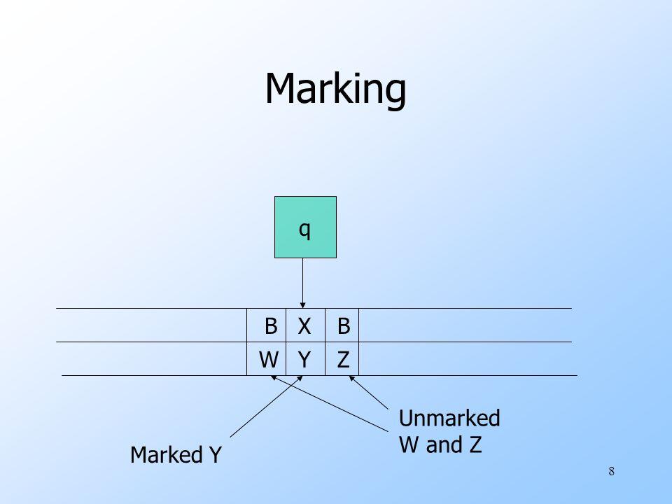 8 Marking q X Y B Z B W Marked Y Unmarked W and Z