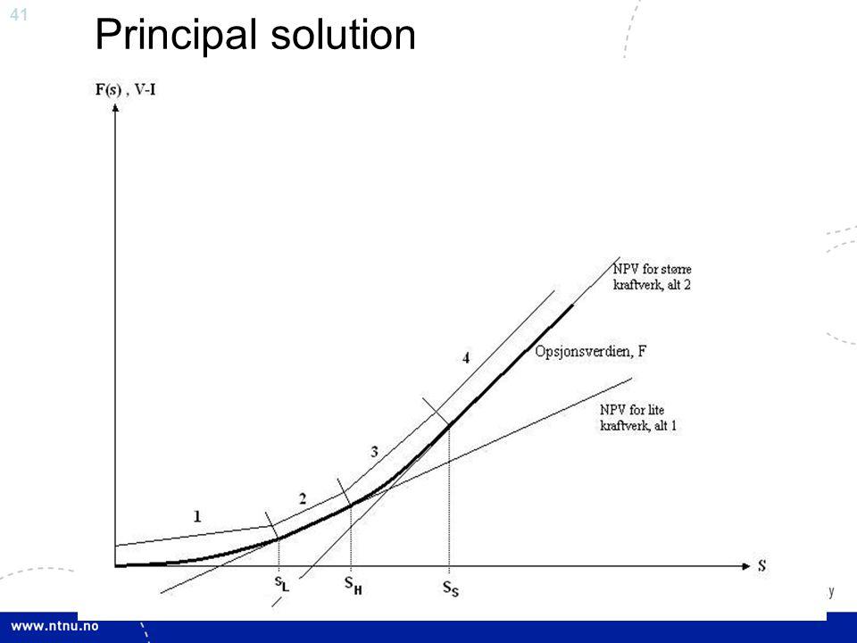 41 Principal solution
