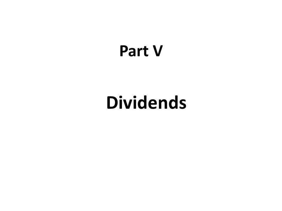 Part V Dividends