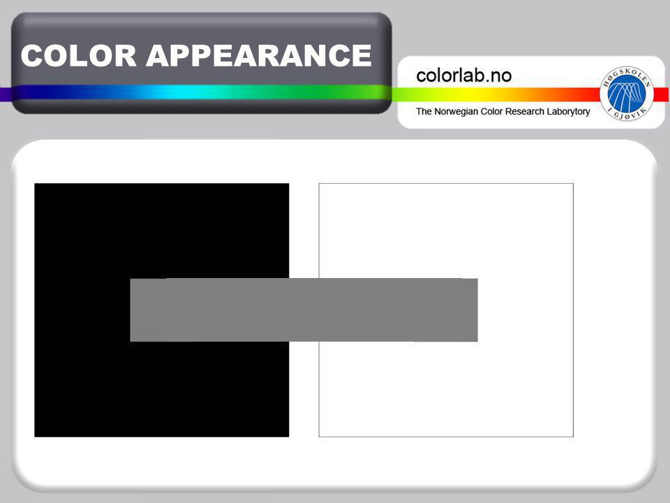 COLOR APPEARANCE ♦ Color appearance phenomena ♦ Color appearance models – CIECAM02 ♦ Corresponding color data sets