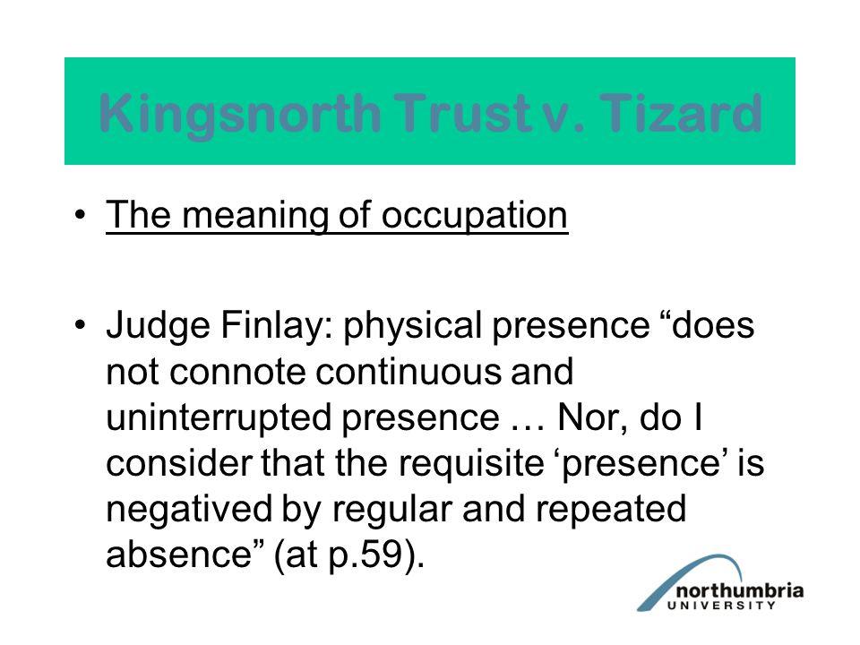 Kingsnorth Trust v.