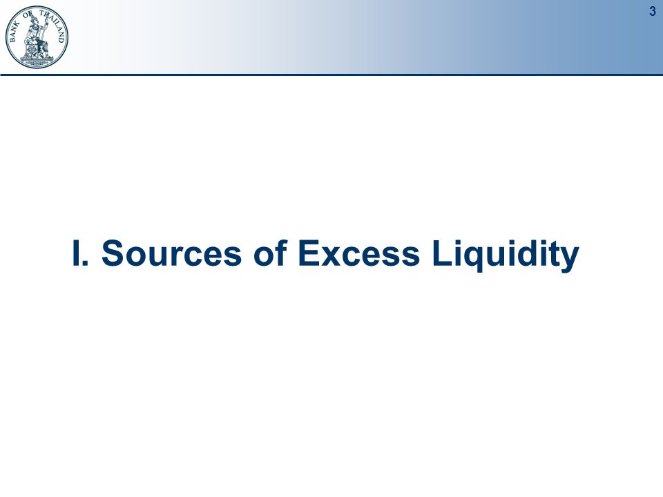 3 I. Sources of Excess Liquidity