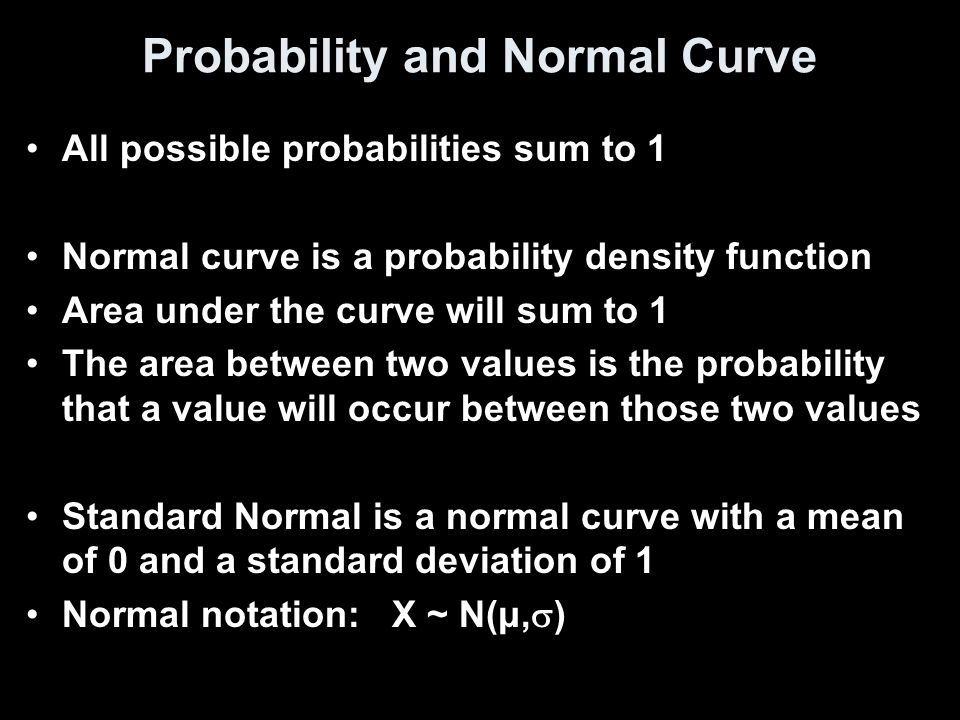 Finding Area under any Normal Curve Draw a normal curve and shade the desired area Use your calculator, normcdf(left, right, μ, σ) OR Convert the x-values to Z-scores using Z = (x – μ) / σ Draw a standard normal curve and shade the area desired Find the area under the standard normal curve using the table.