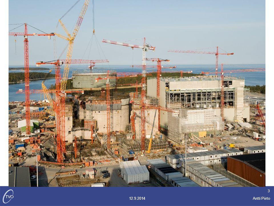 Antti Piirto 12.9.2014 14  Turbines have been completed, last inspections under way.
