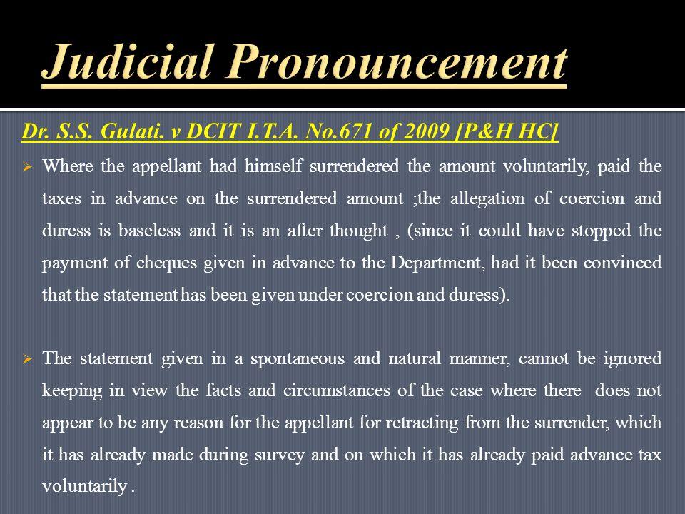 Dr. S.S. Gulati. v DCIT I.T.A.