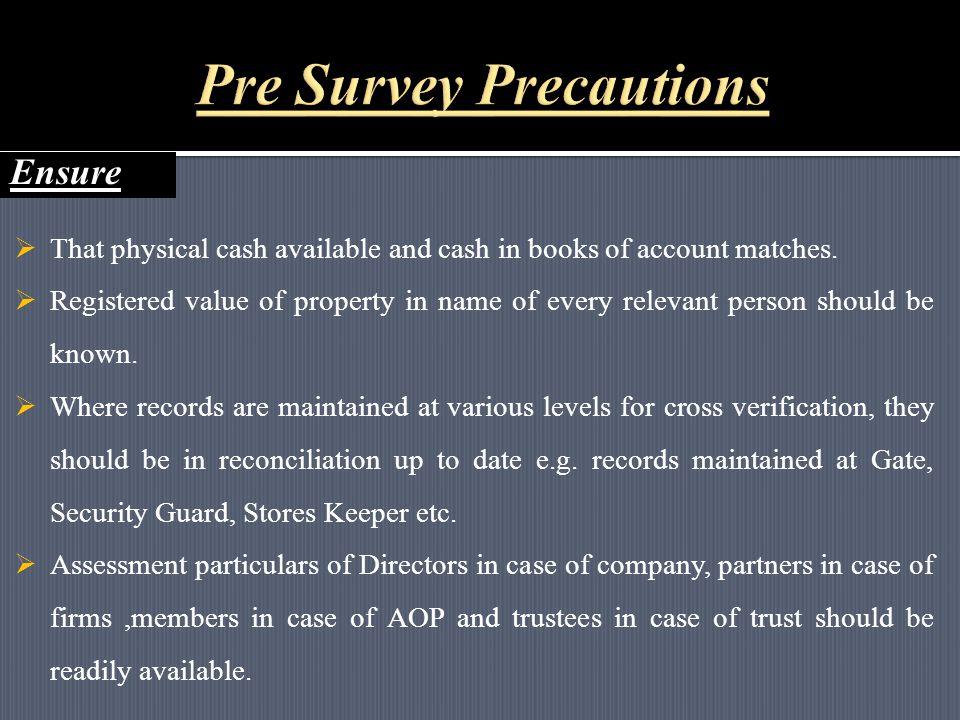 7 Salient features of Survey Proceedings