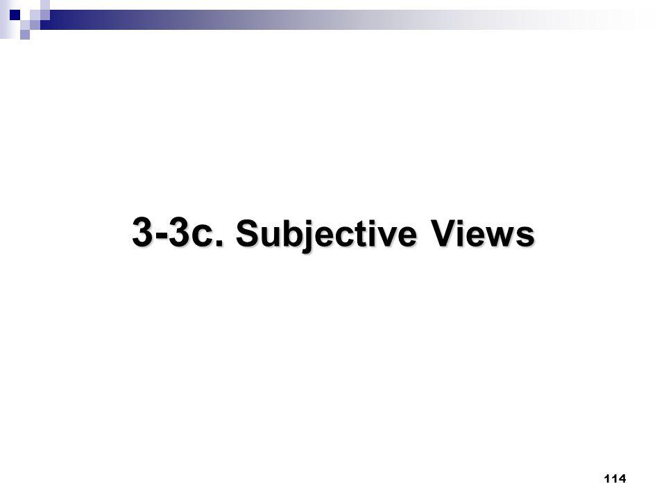 114 3-3c. Subjective Views