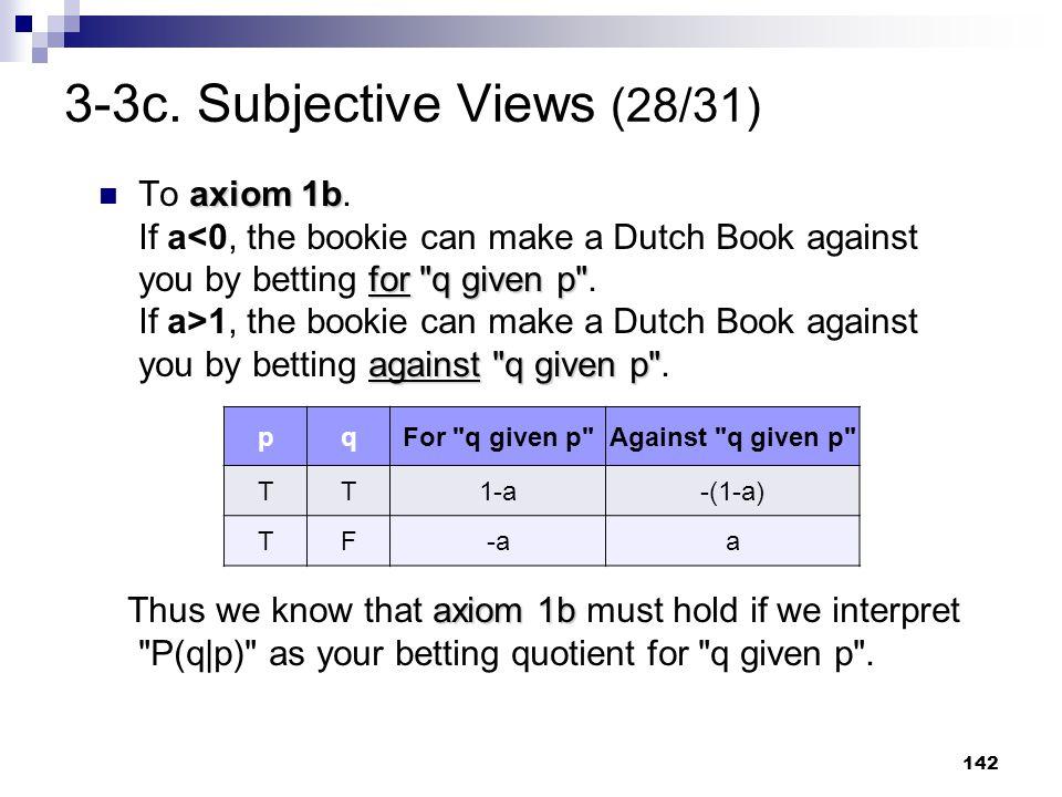 142 3-3c. Subjective Views (28/31) axiom 1b for