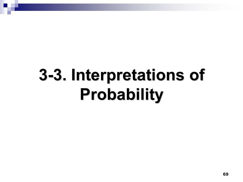 69 3-3. Interpretations of Probability