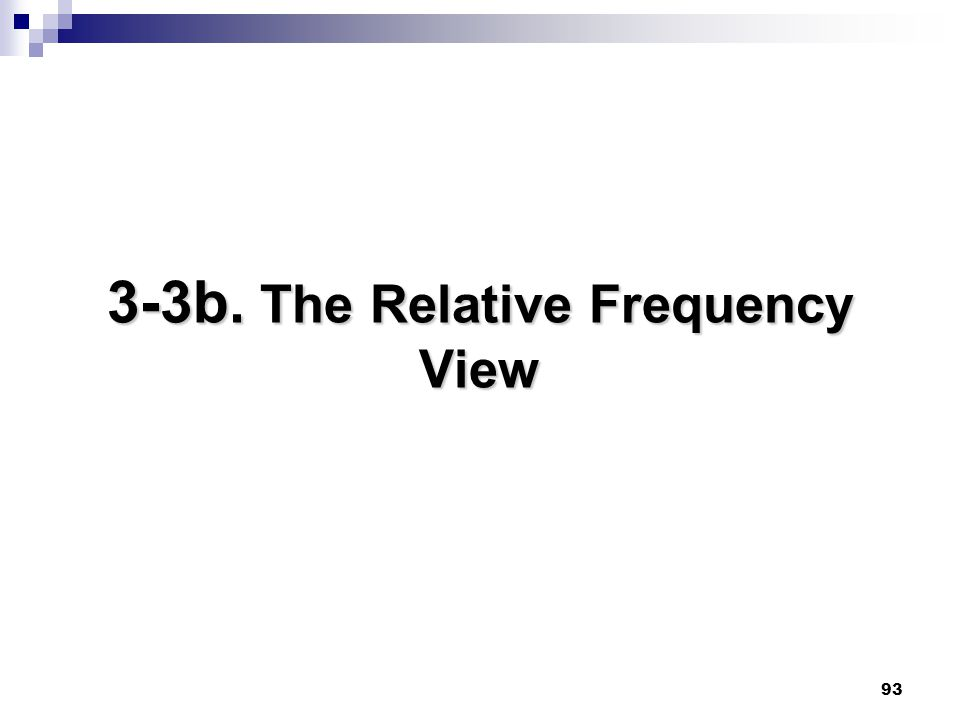 93 3-3b. The Relative Frequency View