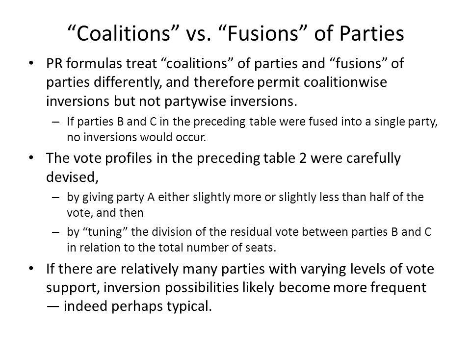 Coalitions vs.