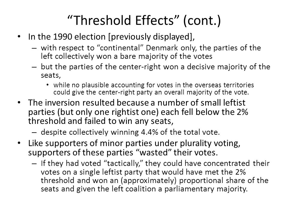 Election Inversions under Pure PR But neither federal nor threshold effects are necessary for election inversions under PR.