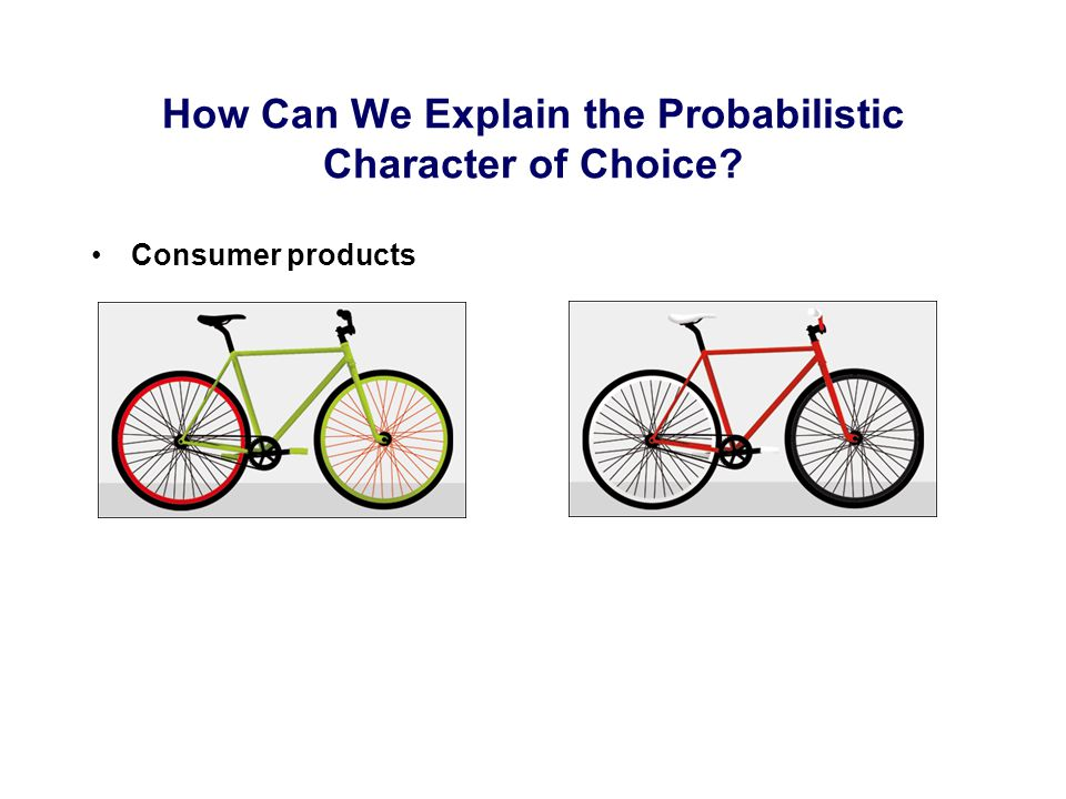 Consumer products How Can We Explain the Probabilistic Character of Choice?