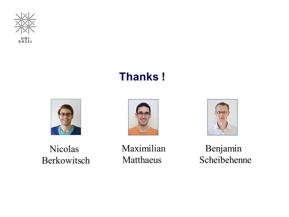 Thanks ! Nicolas Berkowitsch Maximilian Matthaeus Benjamin Scheibehenne