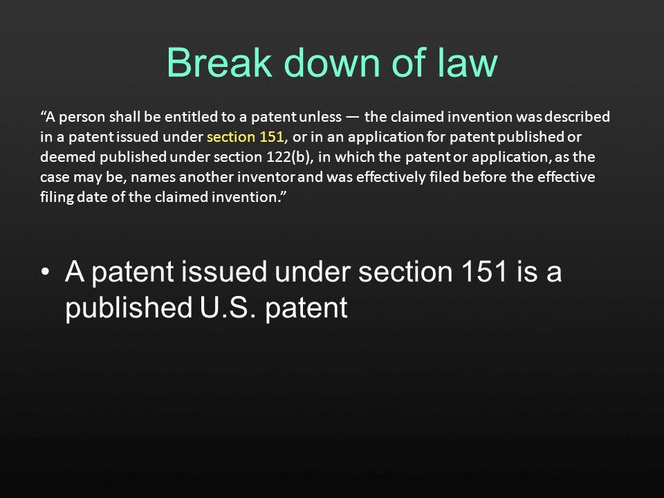 Summary A published U.S.patent A published U.S.