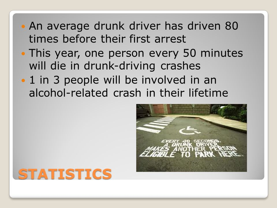 Avoiding Drunk Drivers on the Road Keep your distance Do not try to pass Or Pull over to the side of the road Get the color, make, and model of the vehicle and direction of travel ◦Get license plate number if possible Notify police
