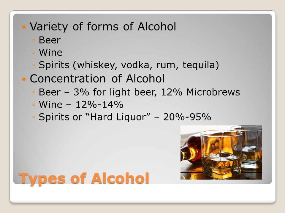 Blood Alcohol Concentration (BAC) The amount of alcohol in your body at a given time Measure of the percent of alcohol in your bloodstream ◦For example, if you have a BAC of 0.10%, it means your bloodstream contains 1% alcohol Can be measured using chemical test that analyze breath, blood, or urine