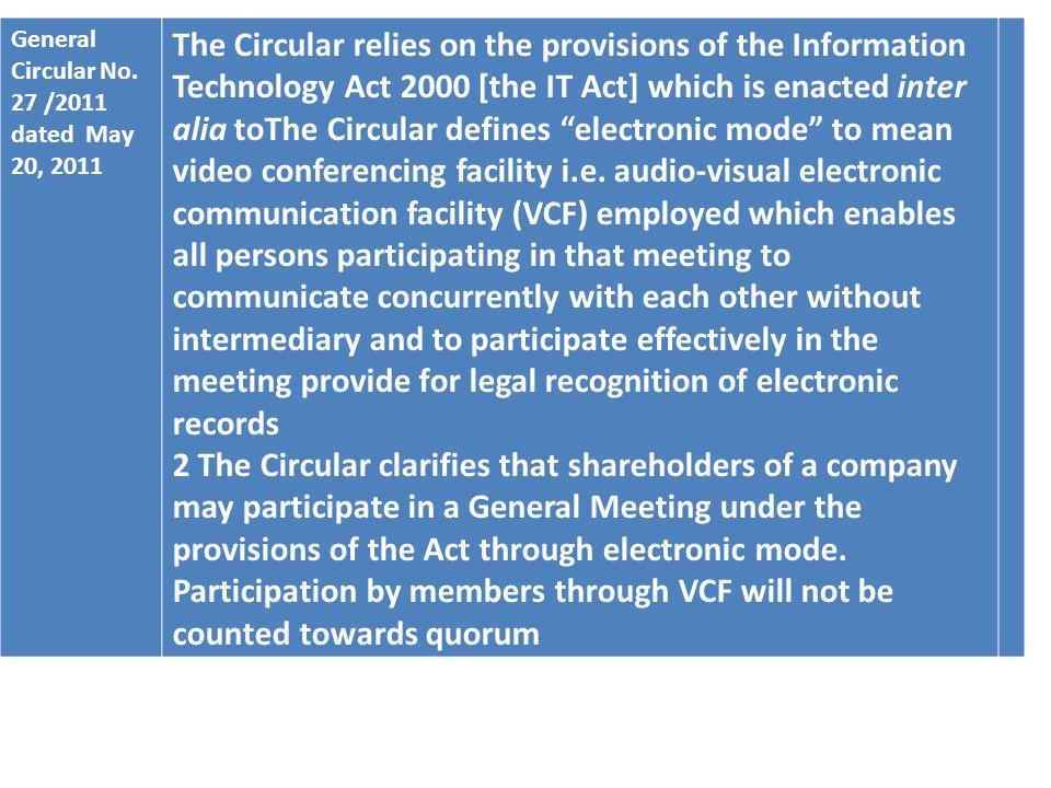 General Circular No.