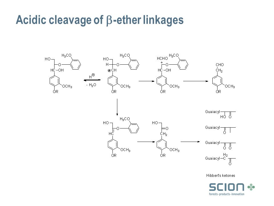 Other reactions under acidic conditions Formaldehyde elimination from sidechain Condensation  species that can trap the intermediate carbonium ion (bisulfite, phenols, thioglycolic acid, chloride) reduce condensation  liberated formaldehyde can also participate in condensations