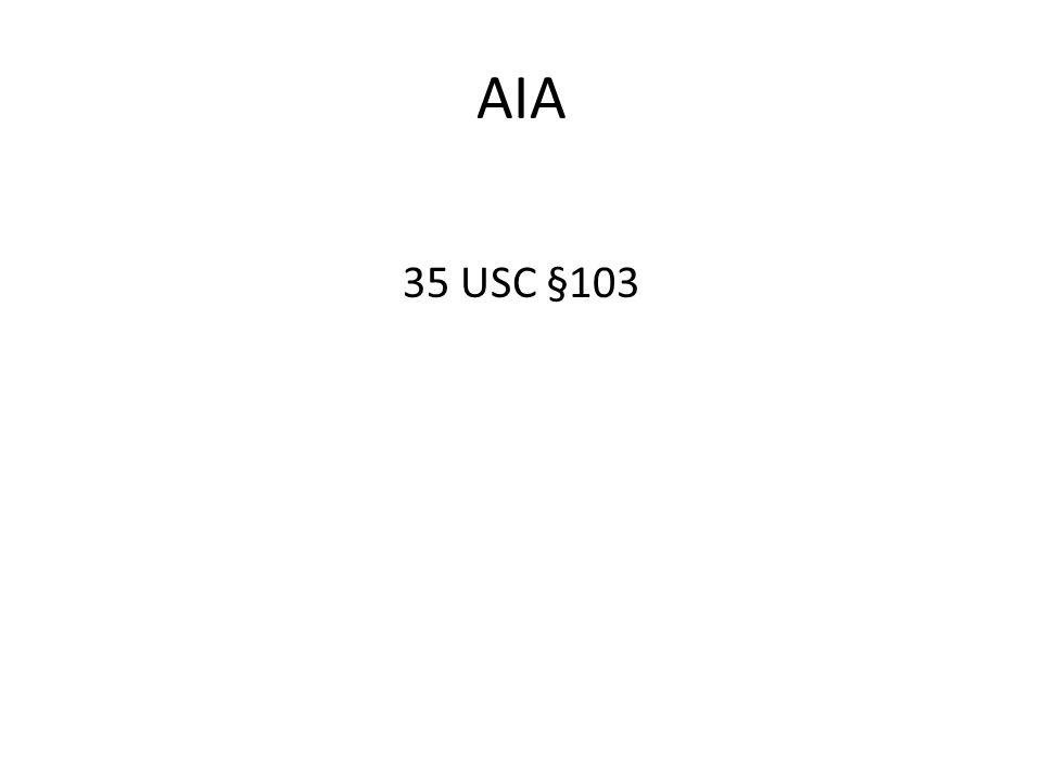 AIA 35 USC §103