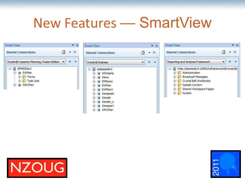 The most comprehensive Oracle applications & technology content under one roof New Features — SmartView