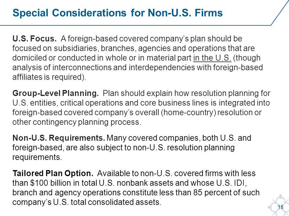 15 U.S. Focus.