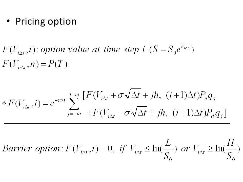 Pricing option